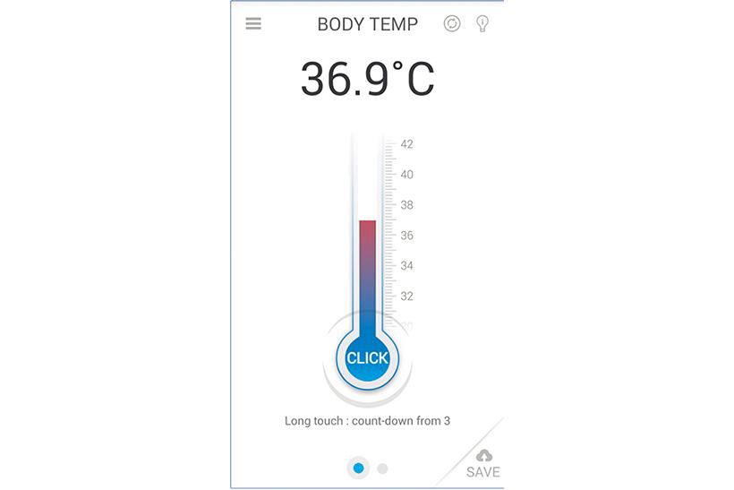 ↑体温などのデータはアプリで保存可能。日々の記録を体調管理に生かせます