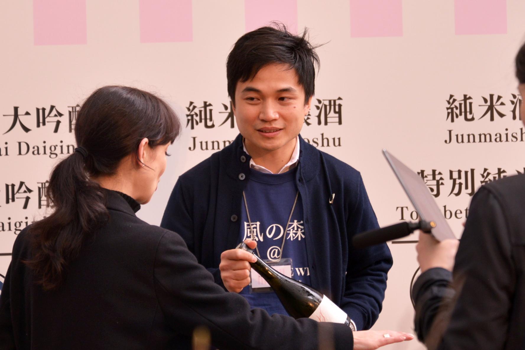↑油長酒造の蔵元・山本嘉彦さん