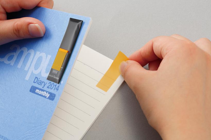 ↑手帳やノートの表紙や表紙の裏に貼って使うのがオススメ。PCの画面フレームなどに貼っても便利