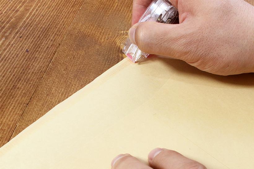 ↑曲がる不安が少ないので、封筒タブのぎりぎりまで攻められる