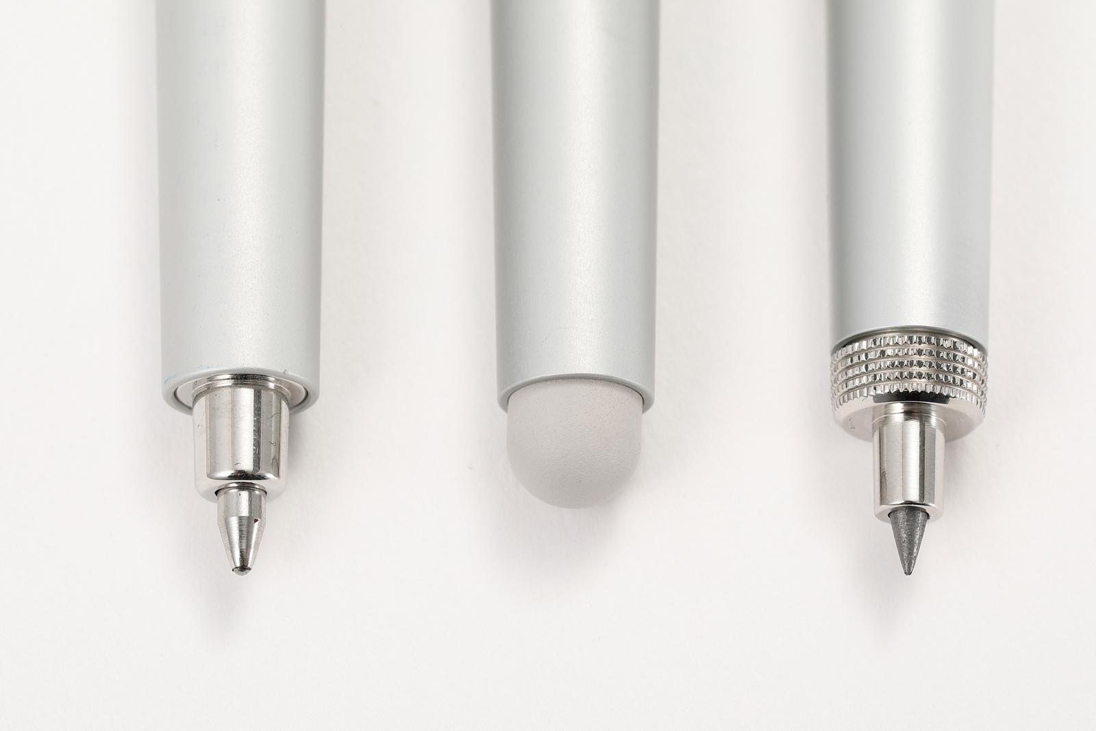 ↑ペン部分はペンシル、スタイラス、ボールペンの3種類を用意。好きなものを選べる