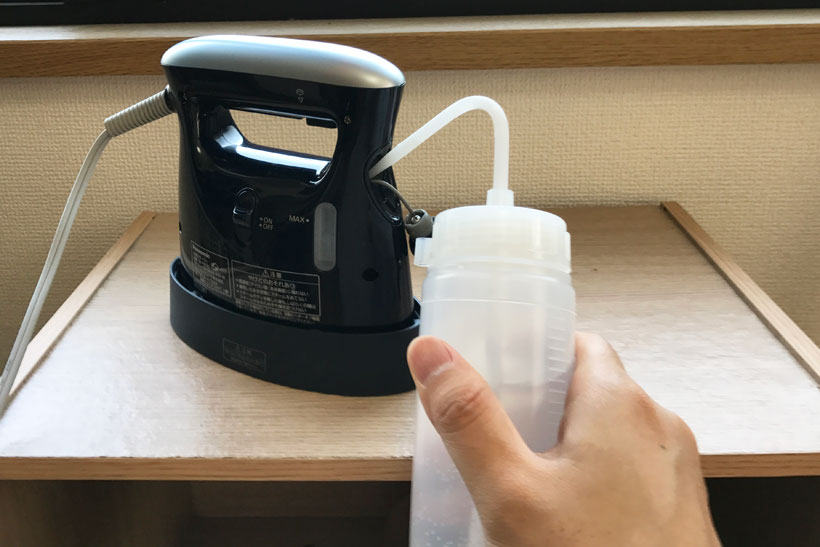 ↑給水には写真のような丸型洗浄瓶がオススメ。