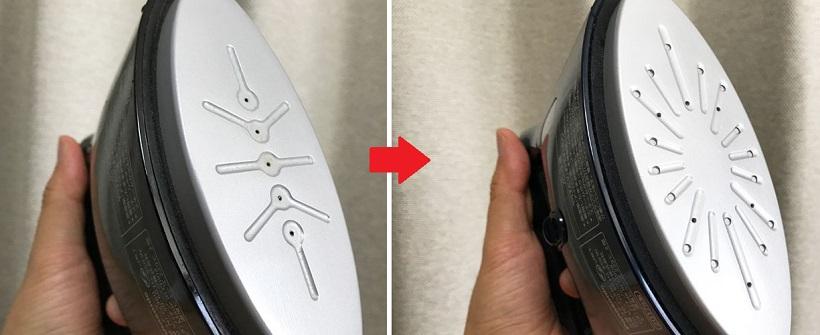 ↑旧製品(左)に比べて