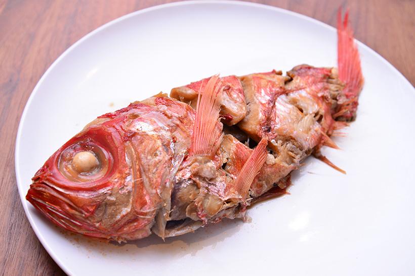 ↑金目鯛は煮付けに