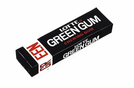 ↑1970年にリニューアルされた「グリーンガム」のパッケージ