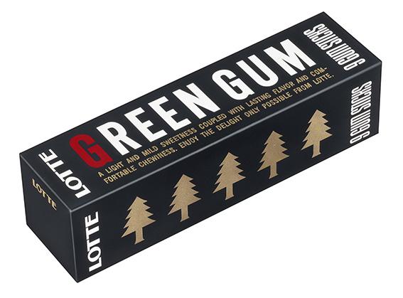 ↑1993年にリニューアルされた「グリーンガム」のパッケージ