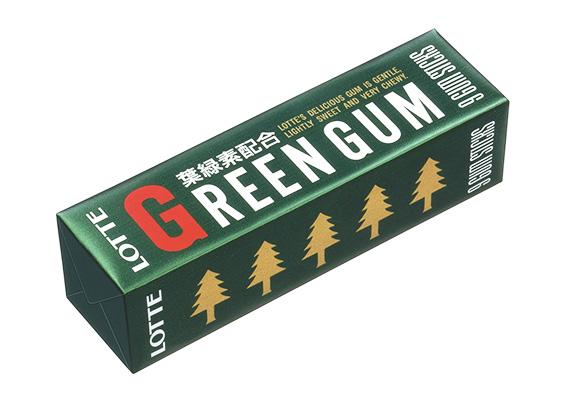 ↑2007年にリニューアルされた「グリーンガム」のパッケージ