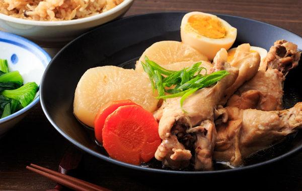 67418638 - japanese food, boiled and seasoned japanese white radish