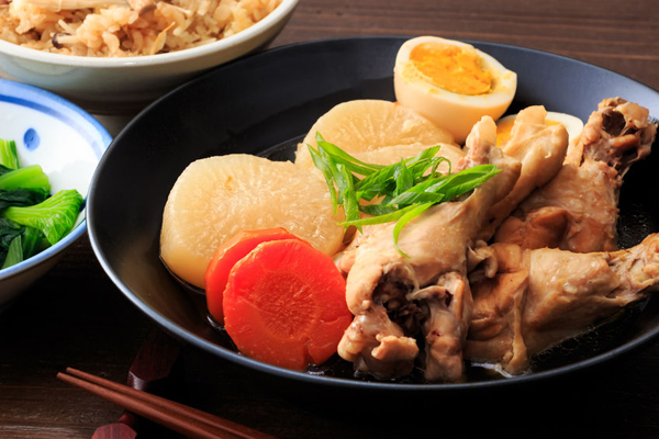 67418638 - japanese food, boiled and seasoned japanese white radish