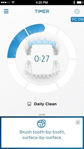 ↑ 磨いた場所のトラッキング機能を世界初搭載。アプリで歯磨きのアドバイスが受けられる