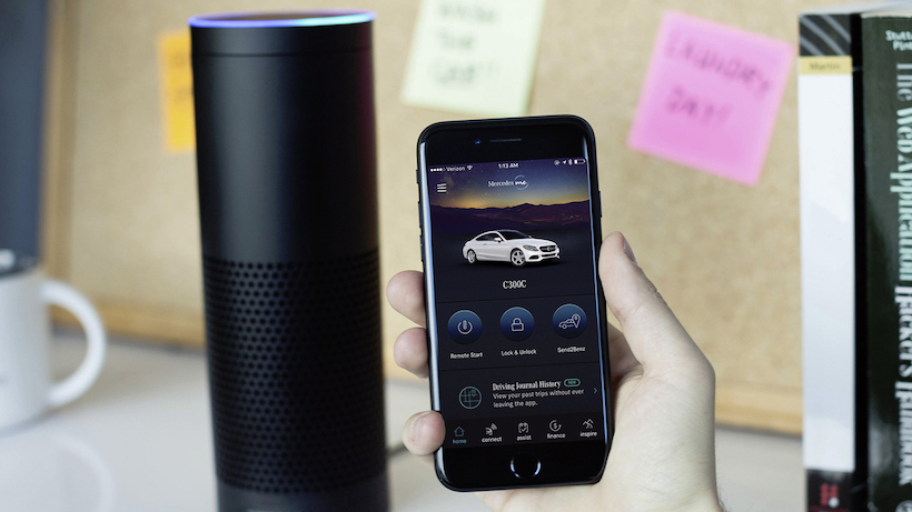 Mercedes-Benz macht das Leben der Kunden angenehmer – mit Google Home und Amazon Alexa ;Kraftstoffverbrauch kombiniert:  6,3 l/100 km; CO2-Emissionen kombiniert: 143 g/km  Mercedes-Benz Makes Customers' Lives Easier with Google Home and Amazon Alexa; Fuel consumption combined: 6.3 l/100 km; CO2 emissions, combined: 143 g/km