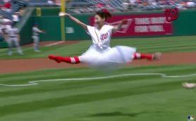 まさに衝撃! MLBで日本人バレリーナが驚きの始球式を行って話題に