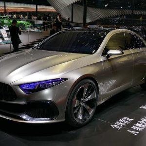 ↑メルセデスベンツは次世代小型PHEVセダンのコンセプトカー「Concept A Sedan」をワールドプレミア
