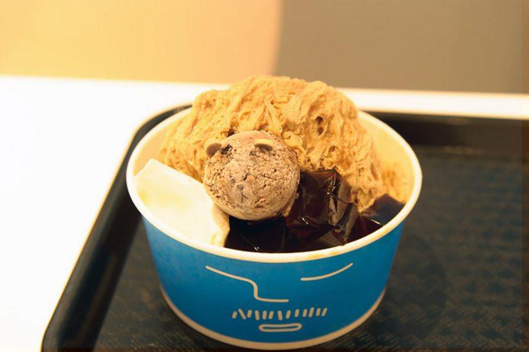 ↑コーヒーかき氷(1200円?)