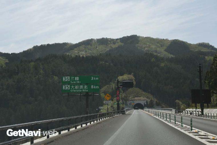 ↑岩手県の沿岸部では高速道路の整備が精力的に進められている