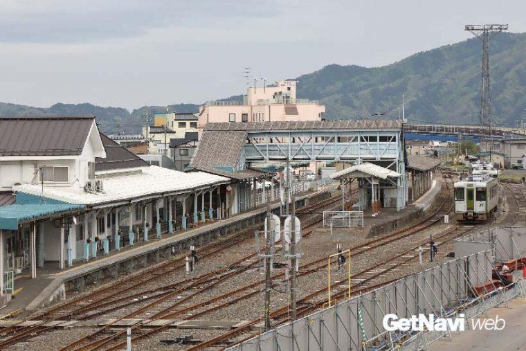 ↑JR宮古駅はJR山田線と北リアス線の接続駅。ところが宮古駅と盛岡駅を結ぶJR山田線も災害によって寸断されている