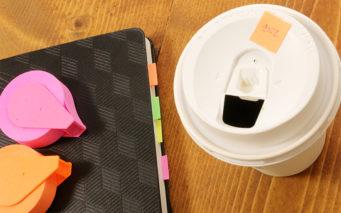 ↑ファイリングのラベルや、自分のコーヒーの目印に