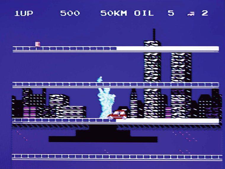 ↑1面はアメリカ・ニューヨーク。自由の女神などのご当地ならではの背景と、アレンジされたクラシックのBGMがあいまって、旅行気分になれる