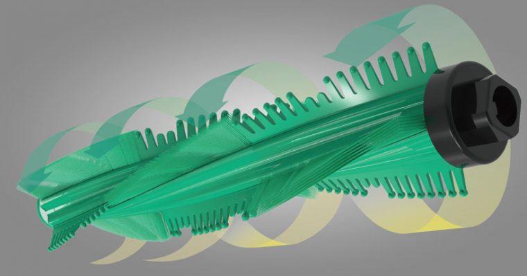 ↑従来モデル(レイコップ LITE)と比べて吸引幅の約20%拡大を実現。効率良くハウスダストを除去します