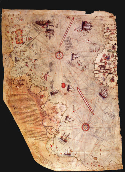 ピリ・レイス地図。