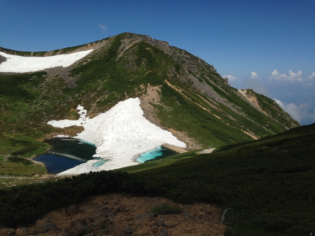 ↑3000mを超える山ですが、バスを利用すれば初心者でも日帰り登山が楽しめます