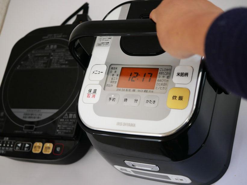 ↑銘柄量り炊きIHジャー炊飯器3合 RC-IA30