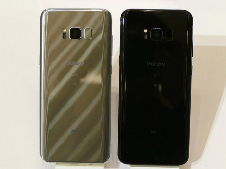 ↑「Galaxy S8+ SCV35」も同日発売予定。実質価格は6万7176円。カラーは「アークティック シルバー」「ミッドナイト ブラック」の2色展開
