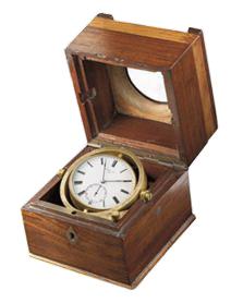 ↑アンリ・ペルゴが手掛けた1860年頃のマリンクロノメーター。大航海時代には必須のアイテムだった