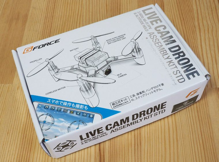 ↑ジーフォース「LIVE CAM DRONE ASSEMBLYKIT」1万260円(税込)