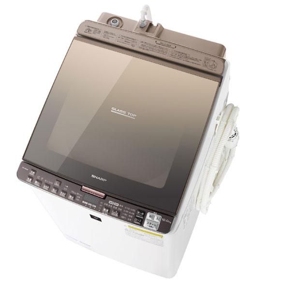↑ES-PX10Bは「ガラストップデザイン」を採用