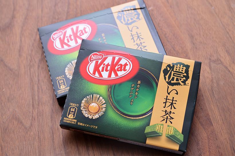 ↑キットカット ミニ 濃い抹茶(3枚入り)/1箱162円