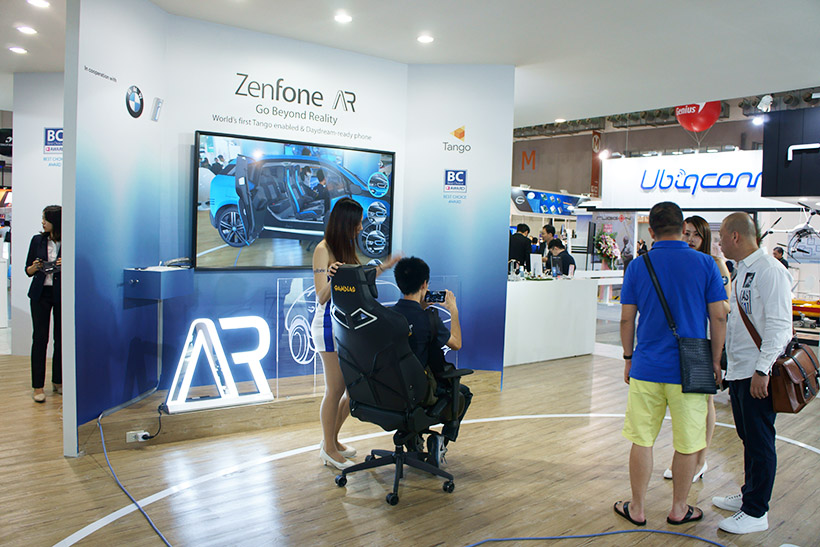 ↑Zenfone ARのコーナー