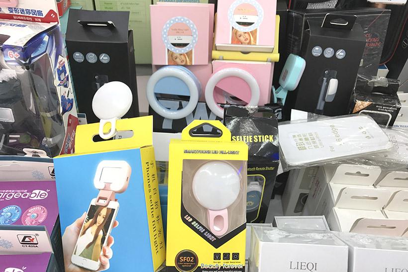 ↑日本でも人気のセルフィ―ライト