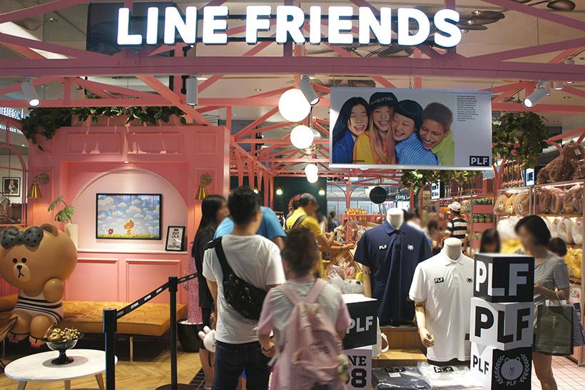 ↑LINEグッズは台湾でも人気