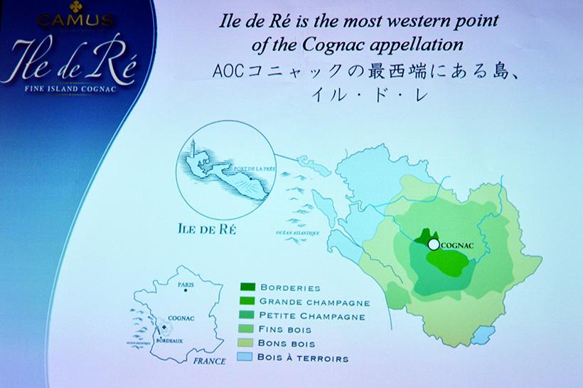 ↑コニャック地方の最西端にあるのが「レ島」。ここでつくられるコニャックは、大手では「イル・ド・レ」のみです