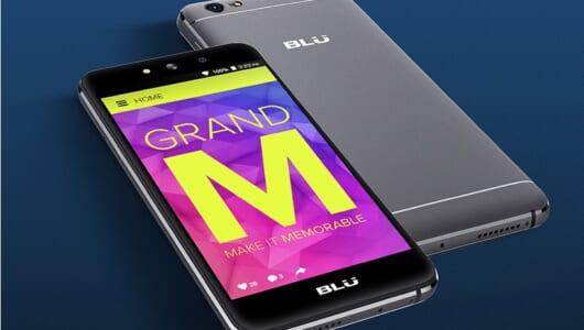 なんと税込7980円! 米国の人気ブランドBLUの3G専用スマホ「GRAND M」が上陸