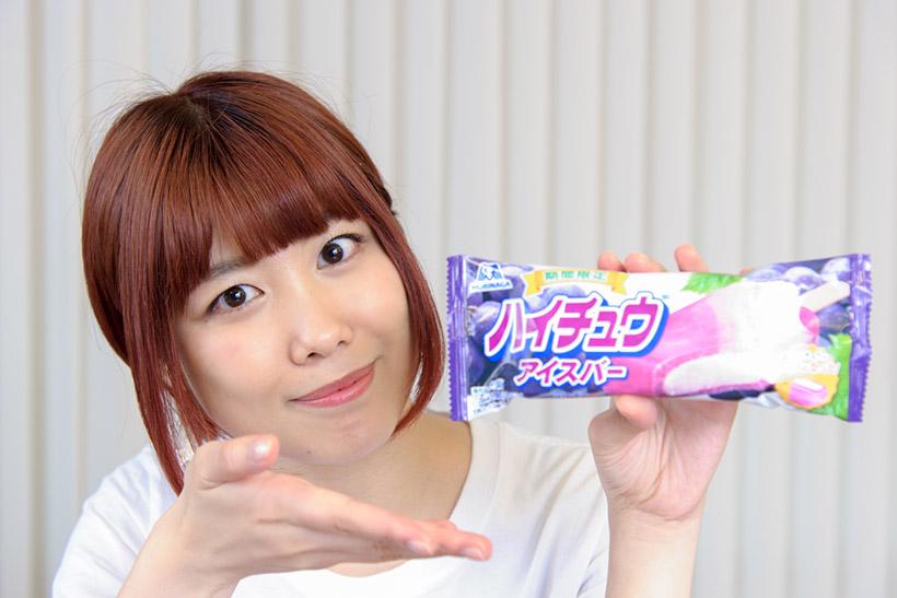 ↑森永製菓 ハイチュウアイスバー<グレープ> 130円(税別)