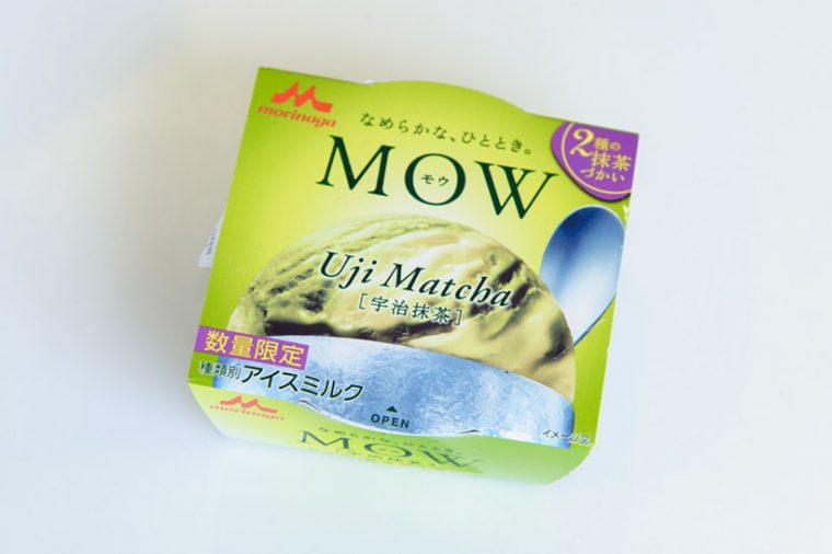 ↑森永乳業 MOW 宇治抹茶(数量限定) 130円(税抜)