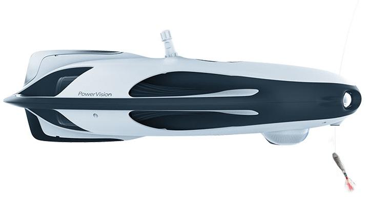 ↑中位モデルと上位モデルには釣り餌投下機を装備。前方下部に見える球体が魚群探知機「PowerSeeker」です