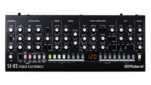 デジタル音源にはない味わい! ローランドのアナログシンセ「SE-02」