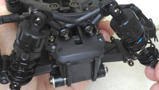 タミヤの最新RCカー「M-07 CONCEPT シャーシキット」を組み立ててみた【オイルダンパー~リヤサスペンション】