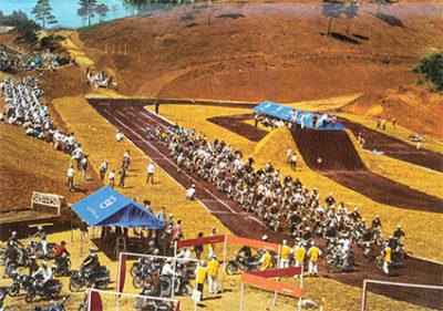 ↑1961年、東京都日野市にオープンしたレジャー施設「多摩テック」。バイク愛好者に向けたダートコースやバイクを使ったアトラクションが目玉だった