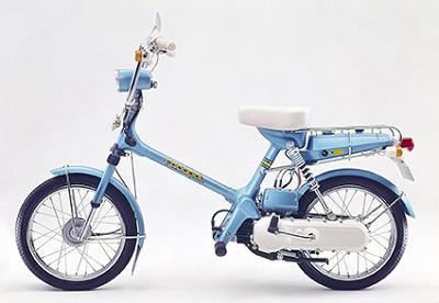 ↑直接的なモンキーのDNAを継承したわけではないが、1978年に登場してミニバイク市場を席巻した女性向けミニバイク・ロードパル