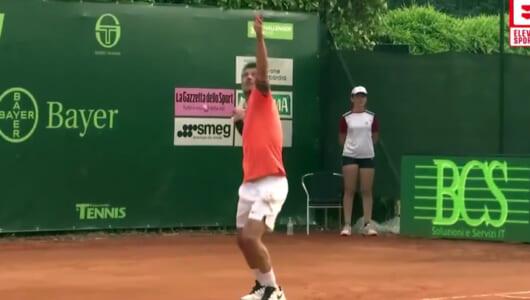 サッカー界のレジェンド、マルディーニがプロテニスデビュー! 試合の様子はこんな感じ