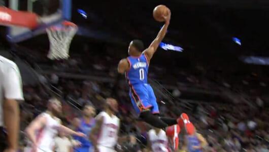 NBAの今季MVPはウェストブルック! 「平均トリプル・ダブル」を達成した、その異次元のプレーを見よ