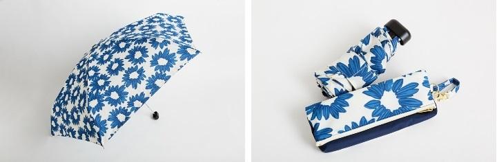 「w.p.c./折り畳み傘 マーガレットミニブルー」2484円