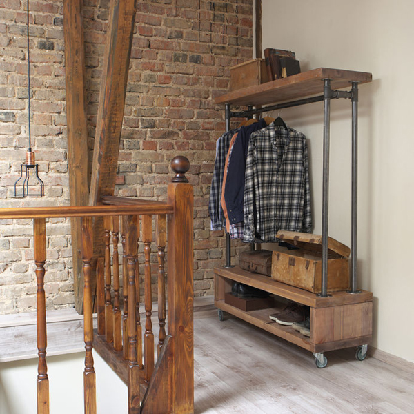 57047740 - modern wooden rack in the loft