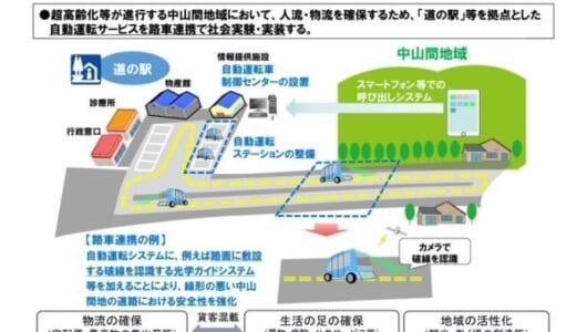 栃木など道の駅5カ所を選定――今夏から自動運転サービスの実証実験がいよいよ本格始動