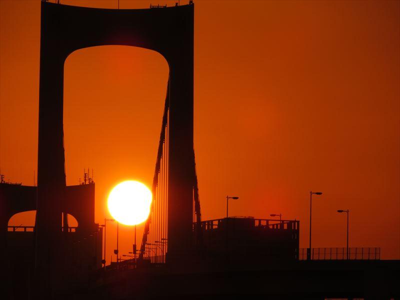 ↑この写真は日没30分前に撮影。最も赤みが増す時間だ