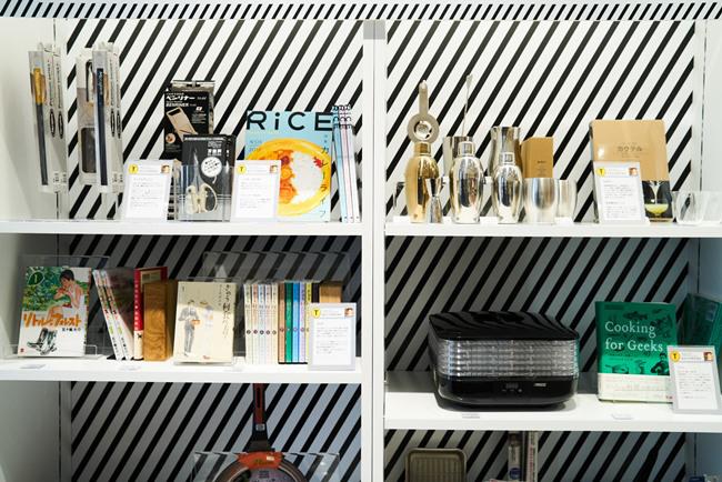 森枝さんオススメの調理家電やキッチン雑貨コーナー。ユニークな使い方のアイデアも提案